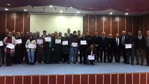 Sürü yönetimi kursiyerlerine sertifika