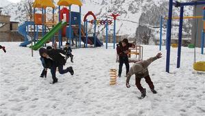 Hakkari ve ilçelerinde okullara yarım gün kar tatili