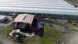 1 milyon liralık kaçak elektriğe dronelu darbe
