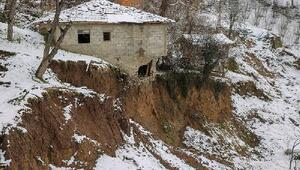 Orduda mahallede heyelan; riskli evler tahliye edilecek