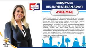 AK Parti Karşıyaka Belediye Başkan Adayı Ayda Maç kimdir