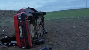Kırşehirde otomobil takla attı: 1 yaralı