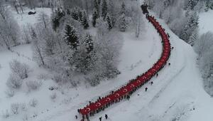 Trabzonda Sis Dağı'nda Sarıkamış şehitleri anıldı