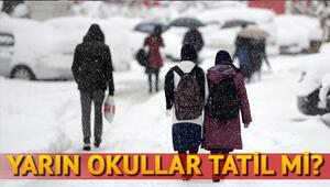 Ankarada yarın okullar tatil mi Sosyal medyada kar tatili beklentisi