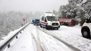Antalya- Konya Karayolu kar nedeniyle ulaşıma kapandı