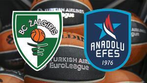 Zalgiris Anadolu Efes maçı Euroleague maçı bu akşam saat kaçta hangi kanalda canlı izlenecek