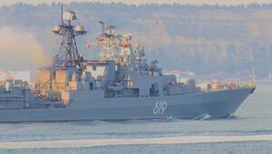 Rus savaş gemisi Severomorsk Çanakkale Boğazından geçti