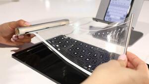 Bir var bir yok: Rulo şeklinde katlanabilen klavye
