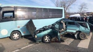 Orduda zincirleme kaza; otomobil sürücüsü ve eşi öldü