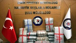 İzmirde 200 kilogram daha skunk ele geçirildi