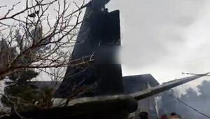 İranda kargo uçağı düştü