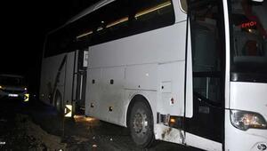 Zenit Kazanı taşıyan otobüs, Ankarada kaza yaptı