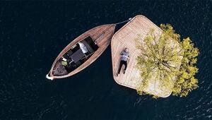 El yapımı yüzen ada