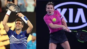 1 numaralar hata yapmadı Djokovic ve Halep ikinci turda...