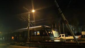 Güngörende tramvay kazasında faciadan dönüldü
