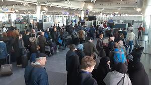 Atatürk Havalimanında yarıyıl tatili yoğunluğu