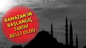 2019 Ramazan Ayı ne zaman başlayacak İşte Ramazan Bayramı tarihi