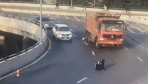 Çindeki kaza yürekleri ağza getirdi