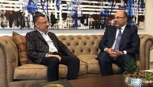 Cumhurbaşkanı Yardımcısı Fuat Oktaydan Demirören Medya CEOsu Mehmet Soysala ziyaret