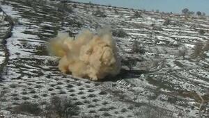 Mardinde ele geçirilen 150 kilo patlayıcı, imha edildi