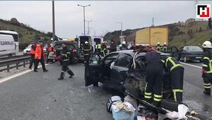 Anadolu Otoyoluda zincirleme trafik kazası
