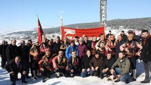 Kar festivalinde renkli görüntüler