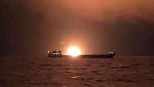 Son dakika... Kerç Boğazında iki gemi alev aldı: 11 ölü