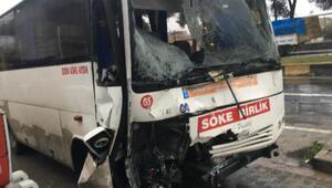 Aydında midibüs ile servis minibüsü çarpıştı: 7 yaralı