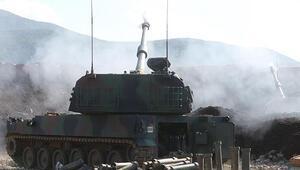 TSK Suriyede YPG/PKKlı teröristleri obüslerle vurdu