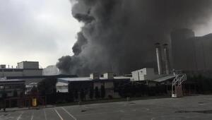 Güngörende fabrika yangını