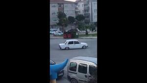 Samsunda drift yapan sürücüye 5 bin 10 TL ceza