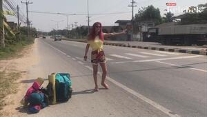 Leyla Bilginel otostop ile Uzakdoğuyu geziyor