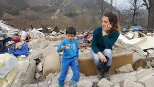 Miras kavgasında, iş makinesiyle evi yıkılan aileye sıcak yuva