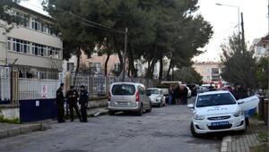 Eniştesini okul bahçesinde öldüren kadın hizmetlinin sorgusu sürüyor