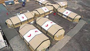 Fırat'ın doğusuna sahra hastaneleri