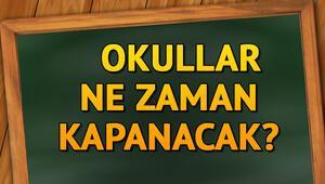 Okullar ne zaman kapanacak MEB 2018- 2019 takvimi