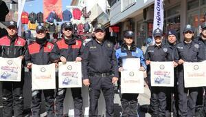 Polisten farkındalık için bez torba