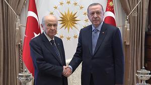 Cumhurbaşkanı Erdoğan ve Bahçeli görüşmesi bitti