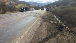 Orhanelide araç takla attı: 1 yaralı