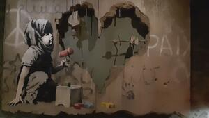 Banksy bu sefer Filistinde ortaya çıktı