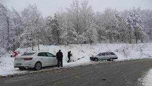 Domaniçte kar ulaşımı olumsuz etkiliyor