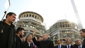 Cumhurbaşkanı Erdoğan Taksim Camisi inşaatında incelemelerde bulundu