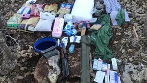 Mardinde 25 kilo patlayıcı ve silahlar ele geçirildi