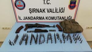 Beytüşşebapta PKKlıların sakladığı kalaşnikof ve ve mermiler bulundu