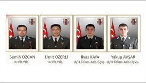 Son dakika: Helikopter kazasında şehit olan askerlerin isimleri belli oldu