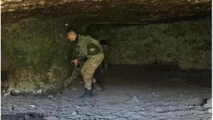 Şırnakta teröristlerin kullandığı 35 mağara bulundu