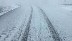 Kınık ve Bergamada kar yağışı