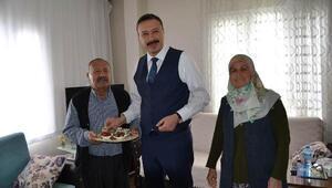 Kaymakamdan, şehit polis Akyüzün ailesine ziyaret