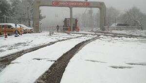 Kırklarelinin yüksek kesimlerinde kar etkili oldu