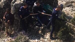Kanyonda keçi kurtarma operasyonu